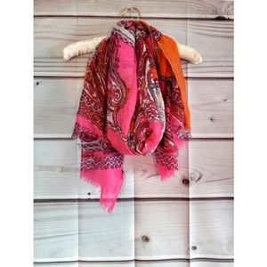 Charlie paige lightweight pink & orange scarf